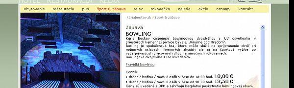 Bowling Kúria Beckov